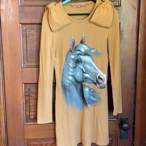 Manoush French Designer Handpainted Horse dress